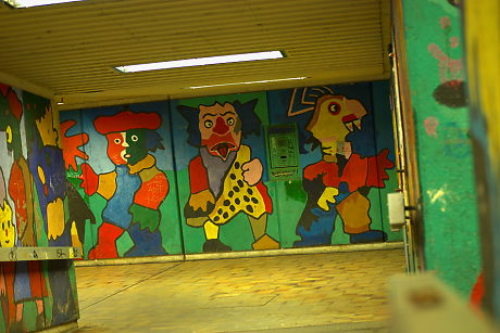 Foto: Kunst im Tunnel am Rathausneubau